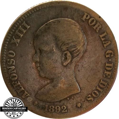 Spain 2 Pesetas 1892