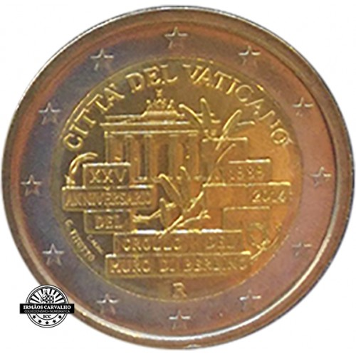 Vaticano 2€ 2014 Berlin Wall