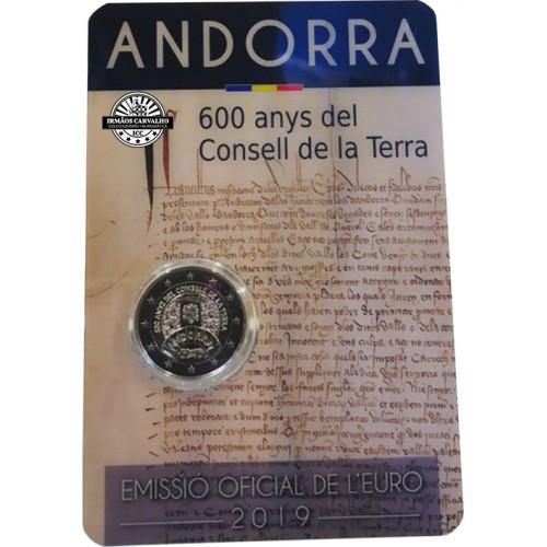 Andorra 2€ 2019 600 Anos do Conselho da Terra