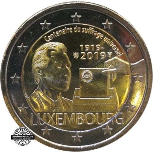 Luxemburgo 2€ 2019 Sufrágio Universal