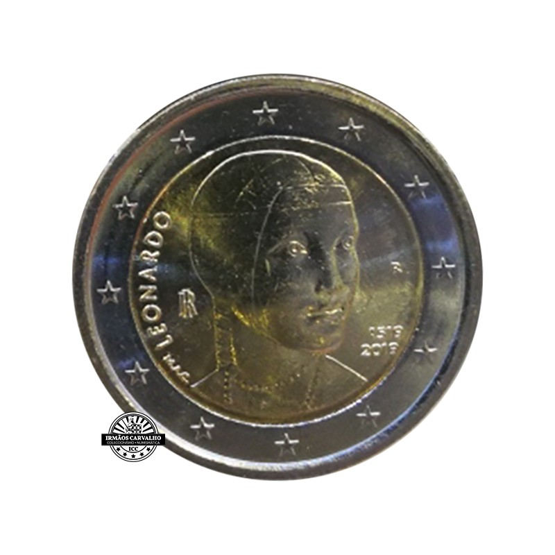 Italy 2€ 2019 Leonardo Da Vinci