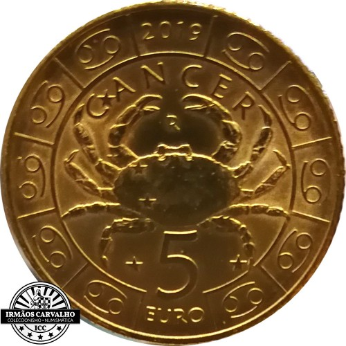 San Marino - 5€ 2019 (Cancer Zodiac)