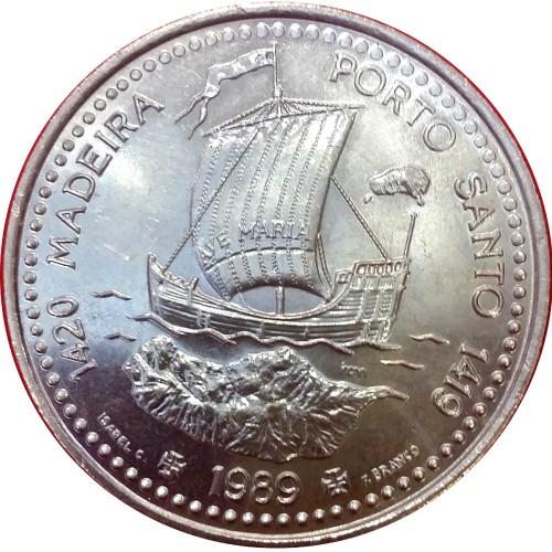100$00 1989 -  Madeira-Porto Santo