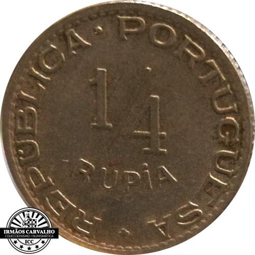 India  1/4  Rupia  1947