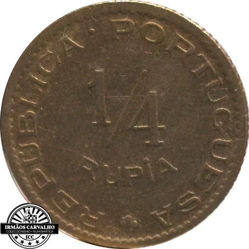 India  1/4  Rupia  1952