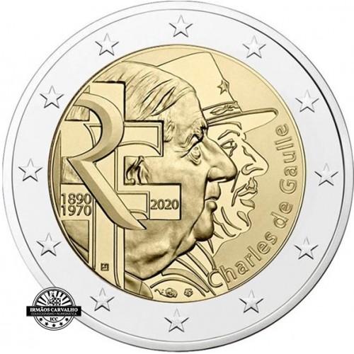 França 2€ 2020 Charles de Gaulle