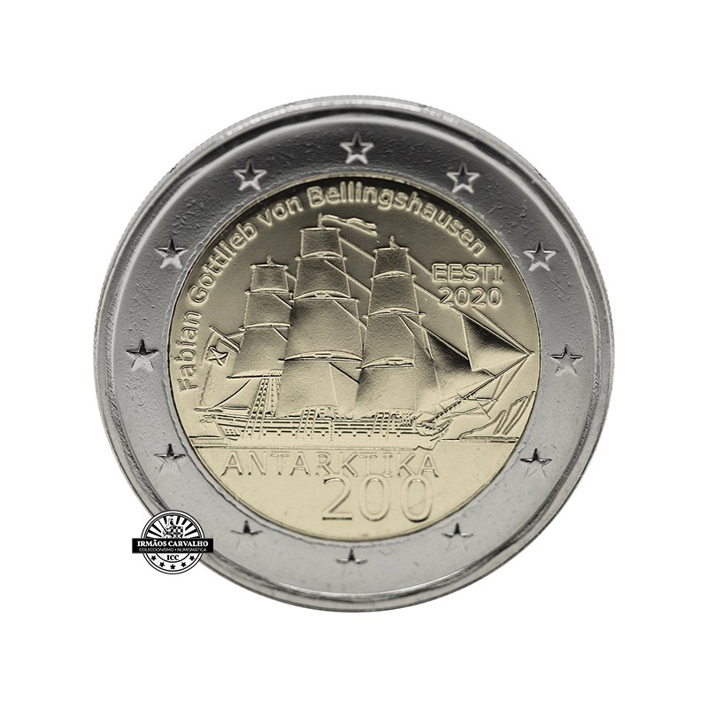 Estónia 2€ 2020 Antarctic Expedition