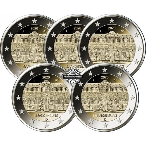 Germany  5X2€ 2020 Sanssouci Palace