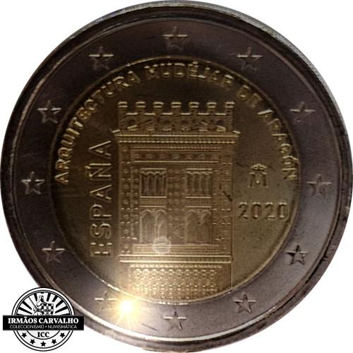 Spain 2€ 2020 Archicteture  Mudéjar de Aragón