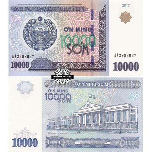Uzbequistão 10 000 Som 2017