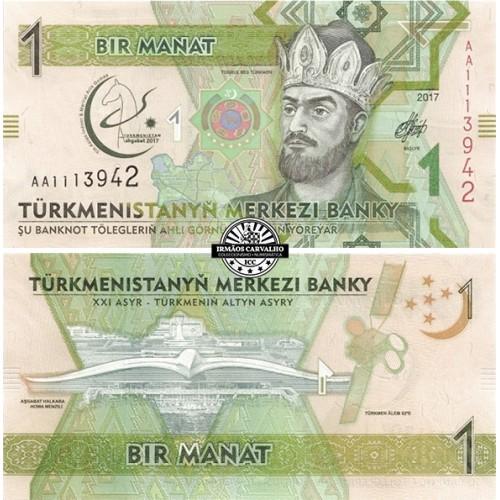 Turkmenistão 1 Manat 2017