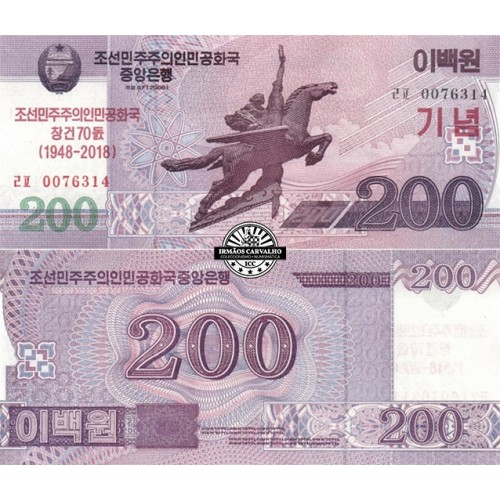 North Korea 200 Won 2018