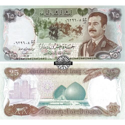 Iraque 25 Dinares 1986