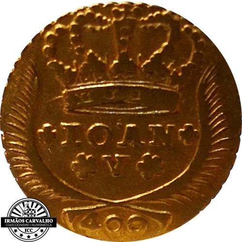 Ioannes V 1723  480 Reis (Gold)