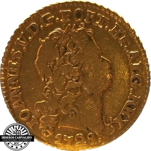 Ioannes V 1729  800 Reis (Gold)