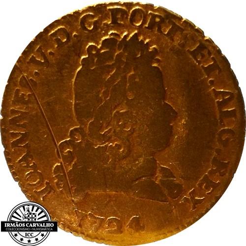 Ioannes V 1724  800 Reis (Gold)