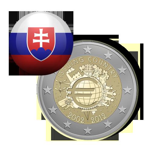 Eslováquia 2,00€ 2012 (10º Aniv. do Euro)