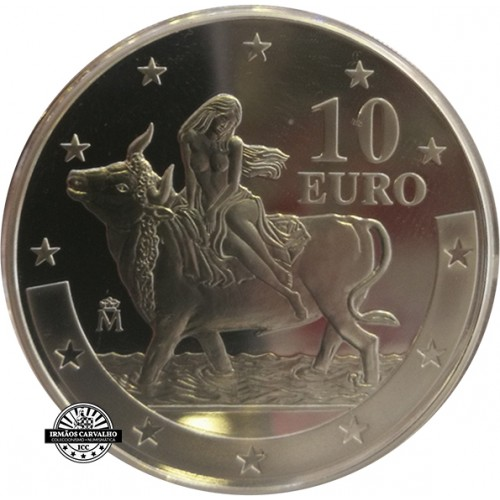 Spain 10€ 2003 1º Anniversary of the Euro (Proof)