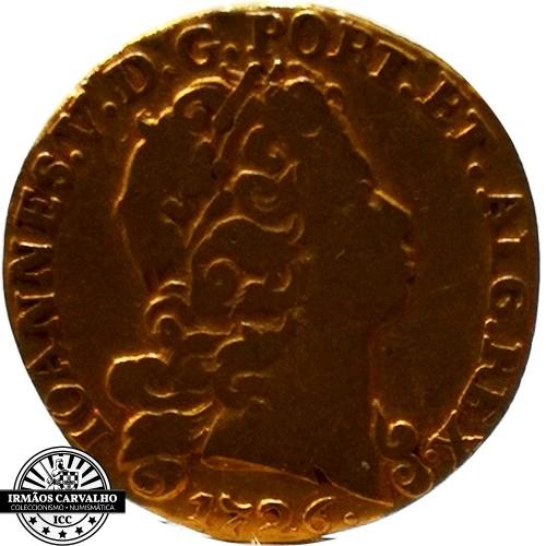 Ioannes V 1726  800 Reis (Gold)