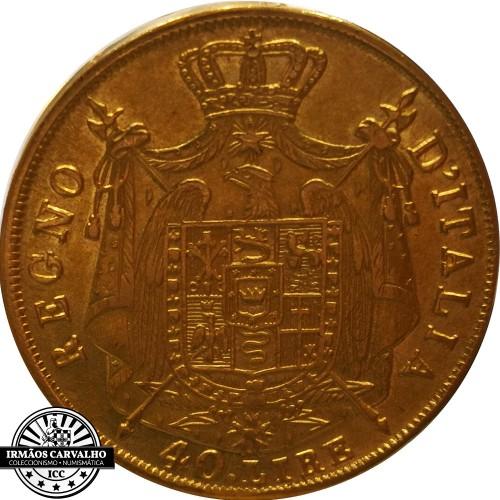Italy 1814 40 Lire (Napoleon KIngdom)