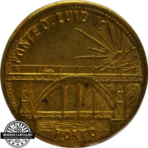 Ficha Ponte D. Luís I 1/2 Centavo 1913