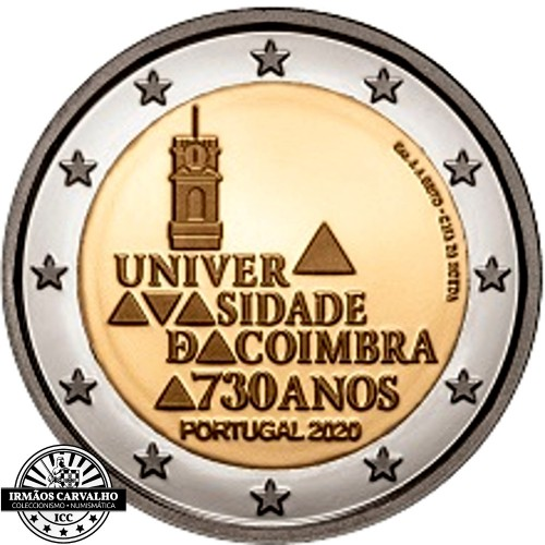 Portugal  2€ 2020 Coimbra University Proof