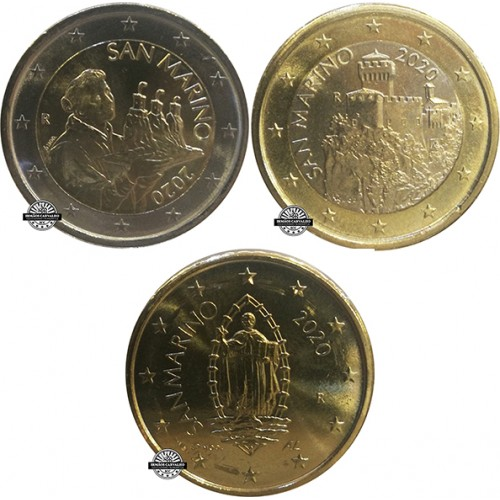 San Marino - 0.50€, 1.00€ & 2.00€ (2020)