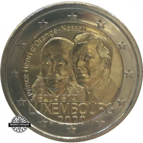 Luxemburgo 2€ 2020 Príncipe Henri D´Orange - Nassau