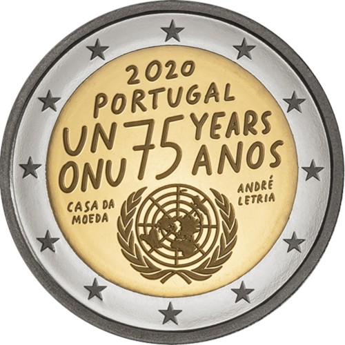 Portugal  2€  Proof 2020 UNITED NATIONS
