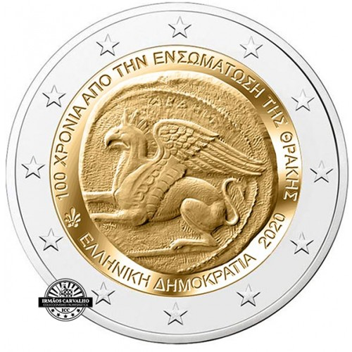 Greece 2 € 2020 100 Years since The Union of Thrace with Greece