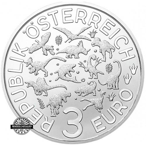 Áustria  3€  2020 Anquilossauro