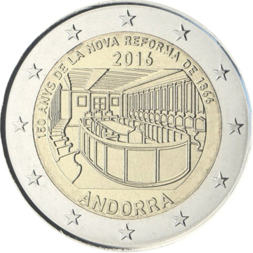 Andorra 2€ 2016 (150th Anniv. of the Reform)