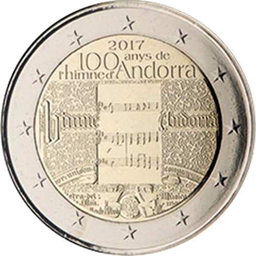 Andorra 2€ 2017 (100 years of National Athem)