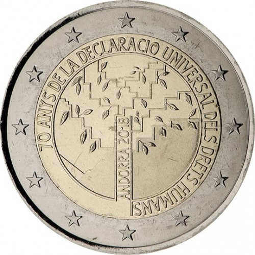 Andorra 2€ 2018 Direitos Humanos