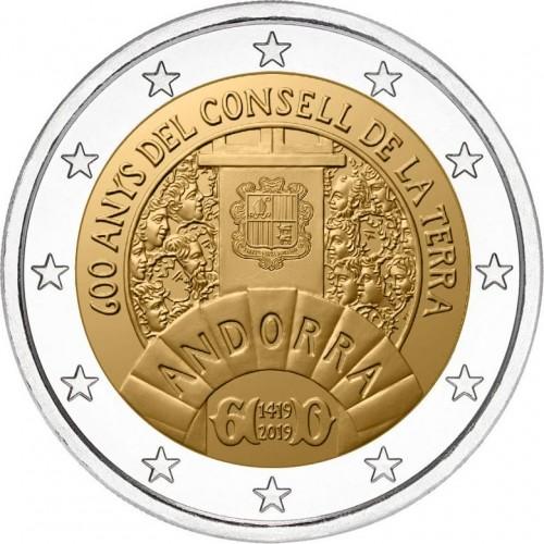 Andorra 2€ 2019, 600 Anos do Conselho da Terra