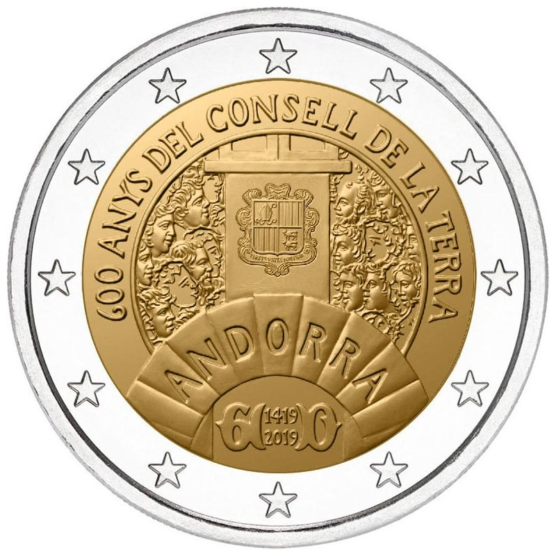 Andorra 2€ 2019 600 years of The Council of the Country