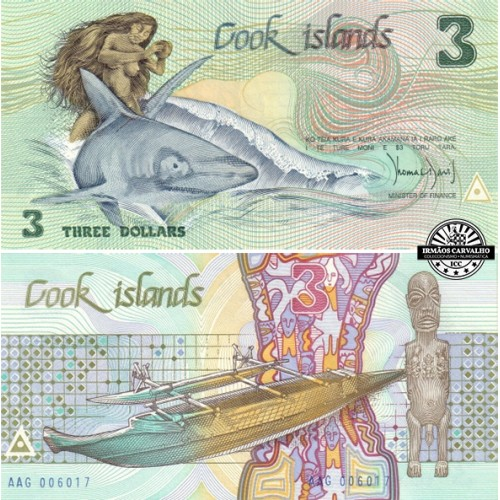 Cook Islands 3 Dollars 1987