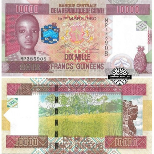 Guiné 10000 Francos 2012