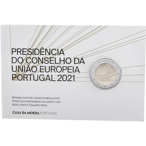Portugal  2€ 2021 PORTUGUESE P. OF THE E.U. (Proof)