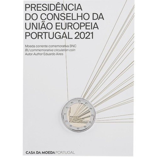 Portugal  2€ 2021 PORTUGUESE P. OF THE E.U. (BU)