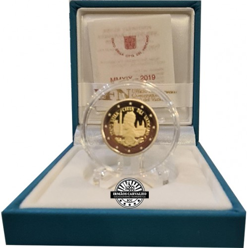 Vatican 2€ 2019 90 Years of the State of Vatican Foundation Proof
