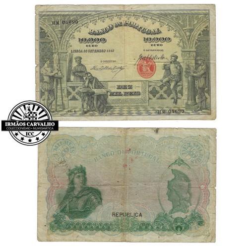 1910 10.000 Reis Banknote