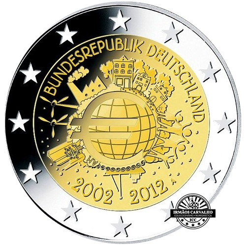 Germany 2,00€ 2012 Ten years of Euro