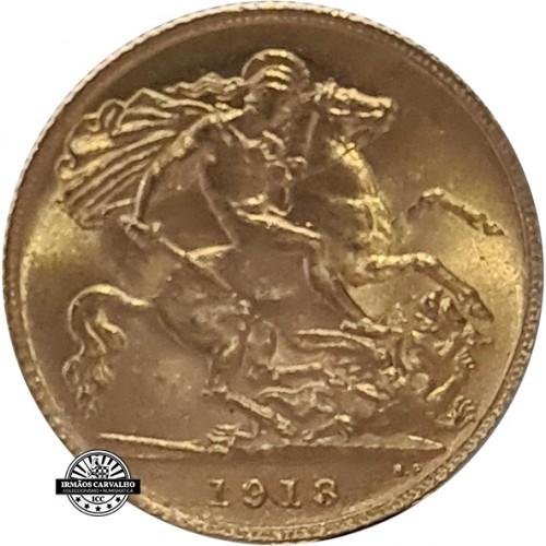 United Kingdom 1913 Half Gold Sovereign (Georgius V)