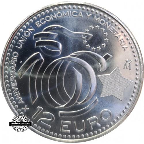 Spain 10€ 2009 10th Anniversary EMU