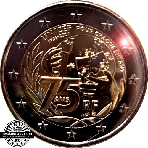 França 2€ 2021 75º Aniversário da UNICEF