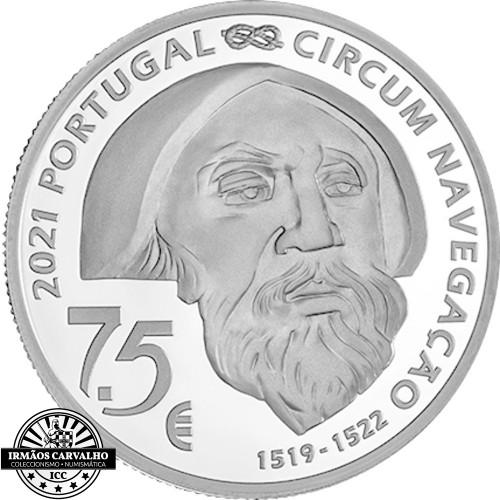 Portugal 7.5€ 2021  Proof FERNÃO DE MAGALHÃES MACTAN 1521