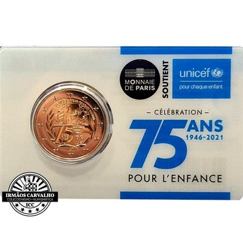 França 2€ 2021 UNICEF Coincard