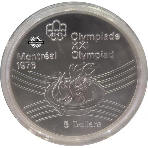 Canada 5  Dollars 1976 Olympic Flame