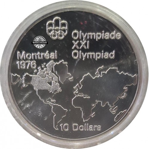 Canada 10 Dollars 1973 World Map